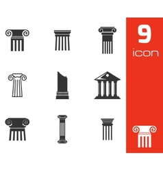 black column icons set vector image vector image