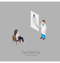 Eye check up vector image vector image