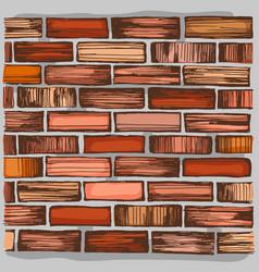 brown brick wall and brickwork vector image