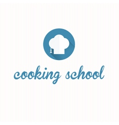 Cooking school symbol icon vector image