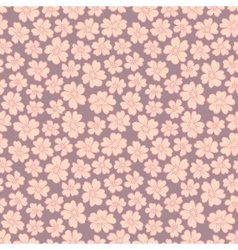Cute flowers seamless vector image vector image
