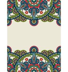 Indian paisley boho mandalas vertical frame vector image