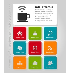 Info graphic company2 vector image vector image