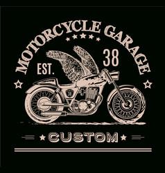 morotcycle custom banner vector image
