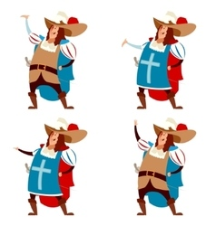 Set of musketeers vector image