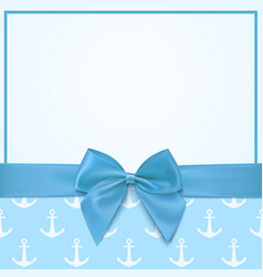 Blank greeting card template for a boy vector image vector image