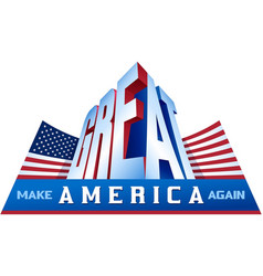 Make america great again stars and stripes flag vector