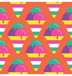Seamless Ice cream pattern icon vector image vector image