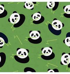 Seamless panda bear pattern vector image vector image