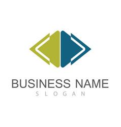 square arrow company logo vector image