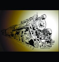 steam locomotive vector image vector image