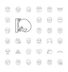 33 facial icons vector