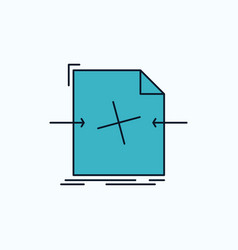 3d document file object processing flat icon vector image