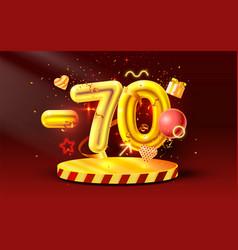 70 off discount creative composition 3d golden vector