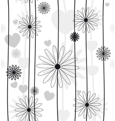 Abstract flower seamless background vector