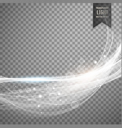 Abstract white light streak effect background vector