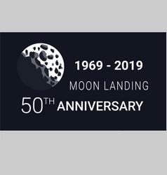 astronaut moon landing 50th anniversary image vector image