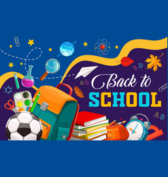 back to school and education supplies banner vector image