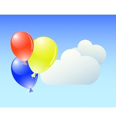 Balloons with clouds vector image