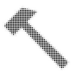 Black pixel hammer icon vector