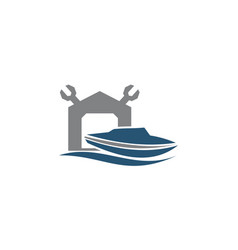 boat shed repair workshop vector image