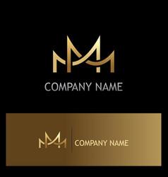 bridge connect gold logo vector image