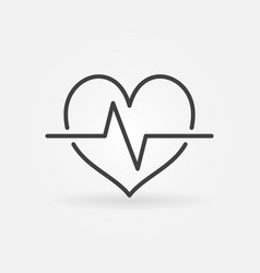 Cardiac cycle linear icon heartbeat vector