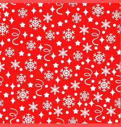 Christmas pattern seamless with confetti vector