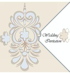 Classic luxury invitation card vector image