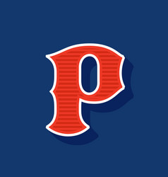Classic style p letter sport logo vector