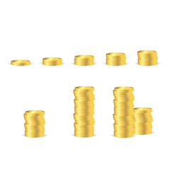 Coins stack icon flat modern design vector