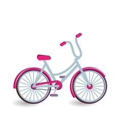 Color bicycle icon vector image