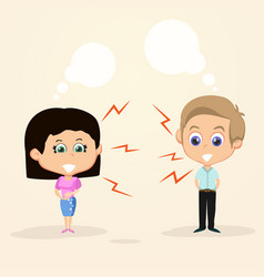 Couple quarrel background vector