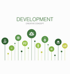 development infographic 10 steps template global vector image