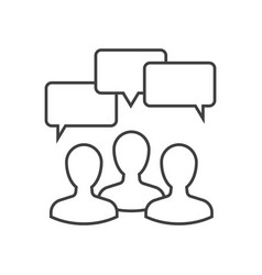Discussion outline icon vector