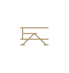 Ea letter mark initial logo icon vector
