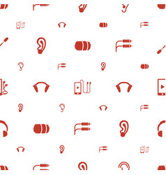 ear icons pattern seamless white background vector image