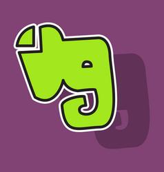 Elephant evernote logo vector