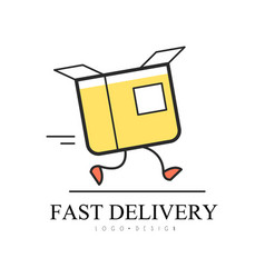 Fast delivery logo design creative template with vector