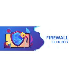 Firewall concept banner header vector