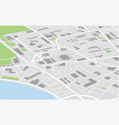 flat city map colored concept vector image