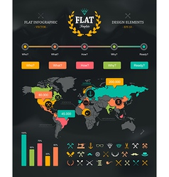 Flat Infographic Set 1 vector image