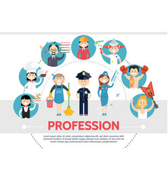 flat professional workers concept vector image