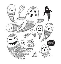 ghosts inktober vector image