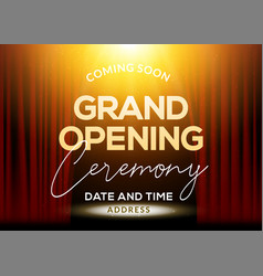 Grand opening ceremony poster concept invitation vector