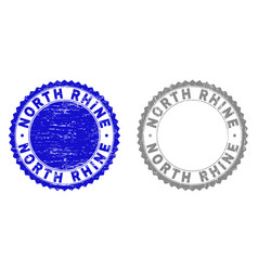 grunge north rhine scratched stamps vector image