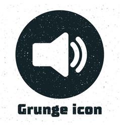 Grunge speaker volume icon - audio voice sound vector