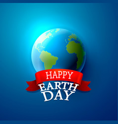 happy day earth vector image