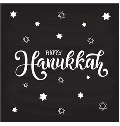 happy hanukkah for calendar invitation poster vector image