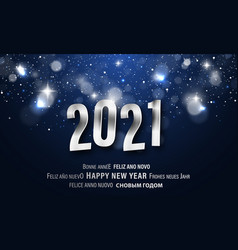 happy new year greeting card in different vector image